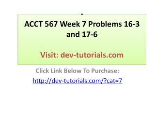 ACCT 567 Week 6 Problem 12-4
