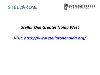 Stellar One Greater Noida West