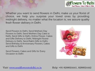 Send Flowers Online to Delhi