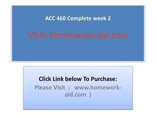 ACC 460 Complete week 2
