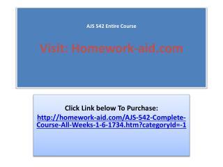 AJS 552 Entire Course