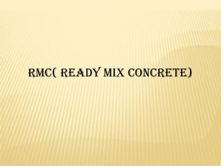 Ready Mix Concrete In Cochin
