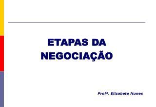 ETAPAS DA                                     NEGOCIA  O
