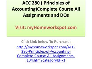 ACC 561 Entire Course  Click  Link Below to Purchase Complet