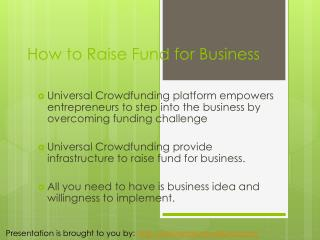 Fund Raising for Business