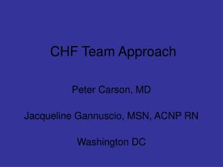 CHF Team Approach