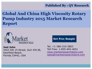 Global and China High Viscosity Rotary Pump Industry 2015 Ma
