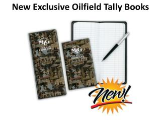 New Exclusive Oilfield Tally Books