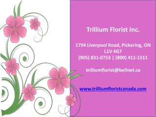 Trillium Florist Inc. - Best Flower Shops in Toronto