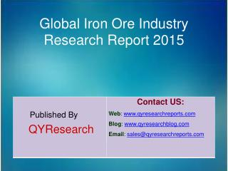 Global Iron Ore Market 2015 Industry Analysis, Research, Tre