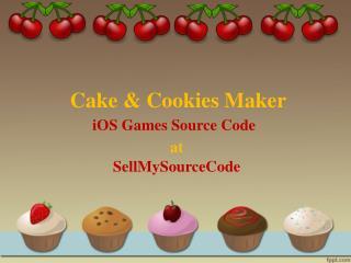Buy Cake & Cookies Maker iOS Games Source Codes