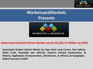 Automated Guided Vehicle Market worth $2,240.15 Million