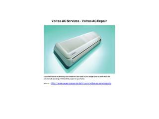 Voltas AC Services - Voltas AC Repair