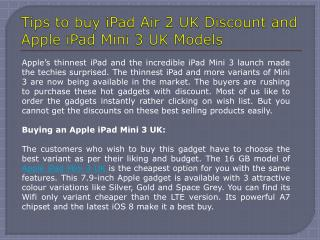 Apple iPad Mini 3 UK