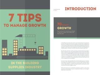 7 Tips to Manage Growth in the Building Supplies Industry