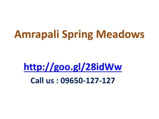 Amrapali Spring Meadows Flats Apartments