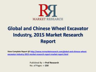 Wheel Excavator Industry 2020 Forecasts for Global and Chine