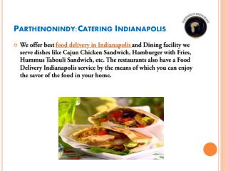 Food delivery & catering indianapolis USA