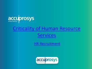 HR Recruitment Services - HR Audit Services