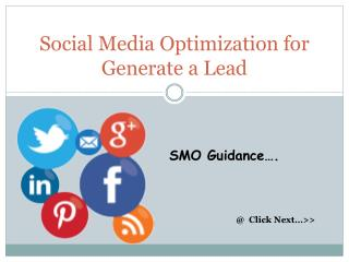 Social Media Optimization for Generate a Lead