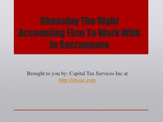 Choosing The Right Accounting Firm To Work With
