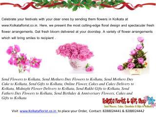 Send Birthday Flowers to Kolkata