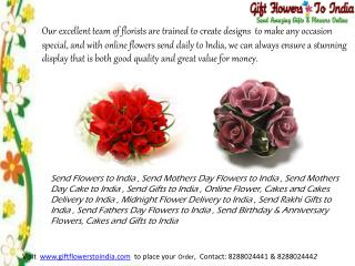 Send Rakhi Flowers to India