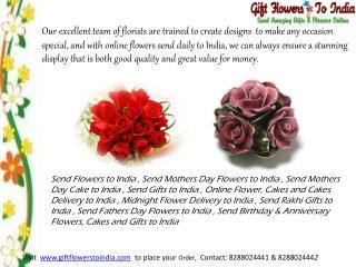 Send Rakhi Flowers to India