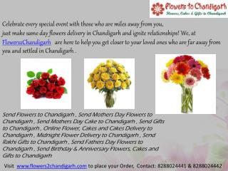 Send Rakhi Flowers to Chandigarh