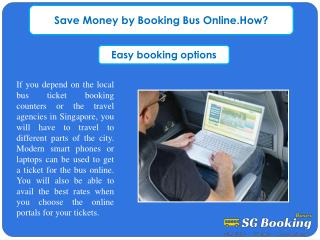 Save Money by Booking Bus Online.How?