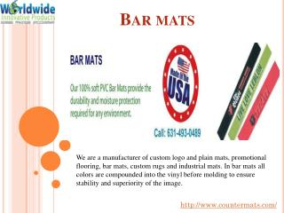 #Bar mats