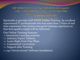 SAP HANA Online Training | Job Support
