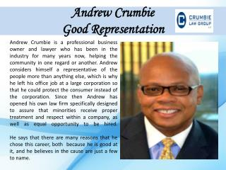Andrew Crumbie_Good Representation