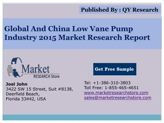 Global and China Low Vane Pump Industry 2015 Market Research