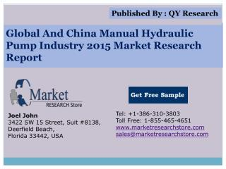Global and China Manual Hydraulic Pump Industry 2015 Market