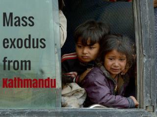 Mass exodus from Kathmandu