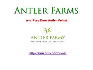 Antler Farms – Deer Antler Velvet