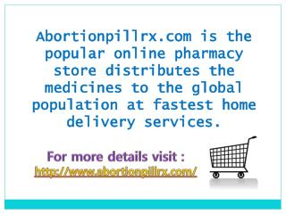 Abortion pill online buy to end the pregnancy