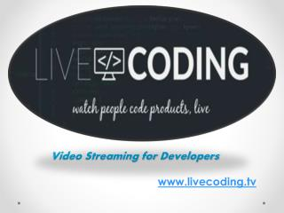 Video Streaming for Developers