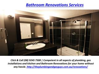 Bathroom Renovations Services