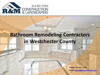 Bathroom Remodeling Contractors in Westchester County