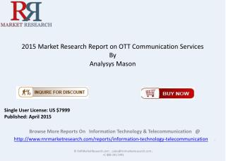 2015 OTT Communication Services Overview by Region & Country
