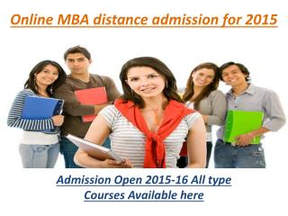 online mba distance admission for 2015