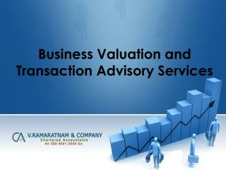 Business Valuation and Transaction Advisory Services