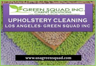 Upholstery Cleaning Service in Los Angeles- Green Squad Inc