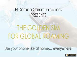 International SIM Card‎ - Less Data roaming | EldoradoCommun