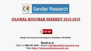 Biochar Market to Grow at 15.46% CAGR by 2019