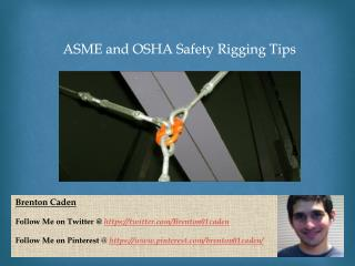 Rigging Requirements and tests on professional level