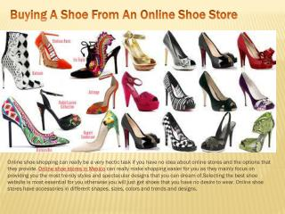 Buying A Shoe From An Online Shoe Store