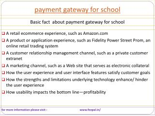 Quintessential Information about payment gateway for school